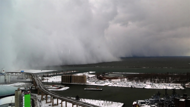WATCH: Majestic Time-lapse of Lake Erie Snow Wall