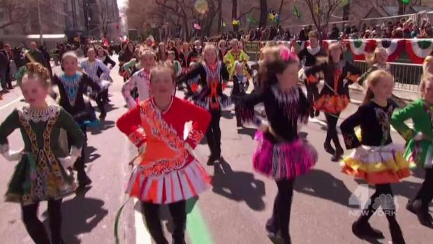 [NY] Little Irish Dancers Dazzle at St. Pat's Parade