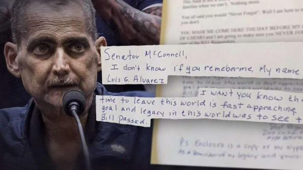 Luis Alvarez Leaves Handwritten Note for McConnell