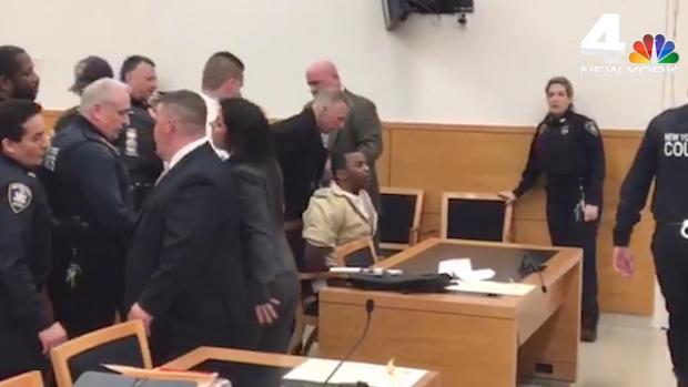 [NY] Man Accused of Slaying NY Teen Brought Into Court Kicking and Screaming