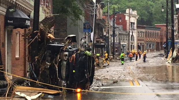 [NATL-DC] Floods Crush Cars, Destroy Streets in Ellicott City
