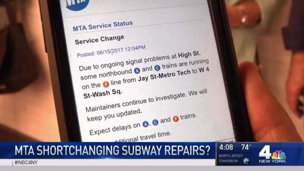MTA Accused of Shortchanging Subway Repairs