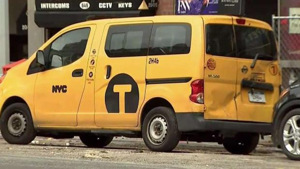 [NY] Manhole Fires Shut Down 8-Block Stretch; Taxi Goes Airborne