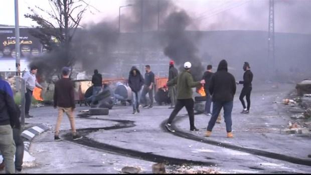[NATL] Palestinians Protest While Netanyahu Hails Trump