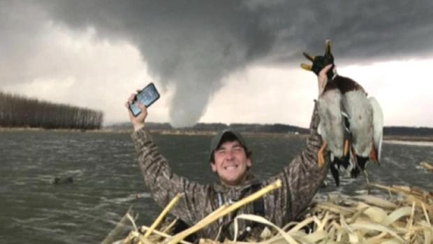 [DFW] Hunters Ride Out Tornado in Duck Blind