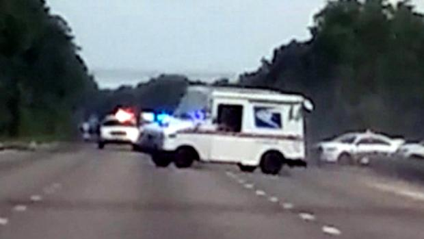Hijacked Mail Truck Wipes Out After High-Speed Chase