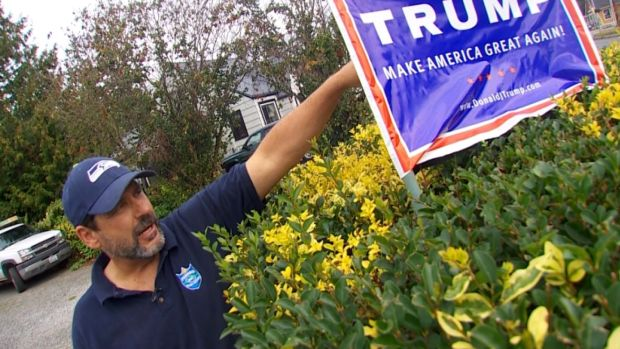 [NATL] Man Adds Electric Shocks to His Trump Signs to Thwart Thieves