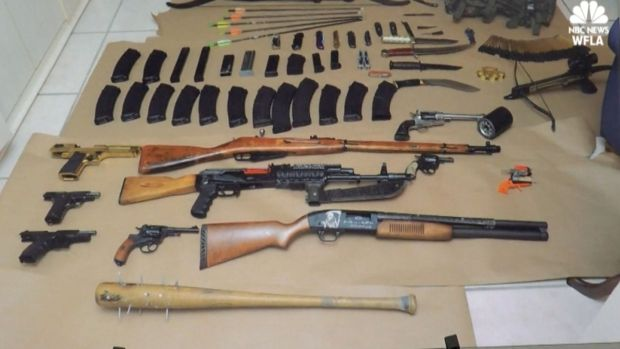 [NATL] Child Porn Search Warrant Leads to Massive Weapons Bust