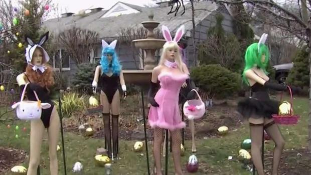 [NY] NJ Home's Front Yard Easter Display Turning Heads