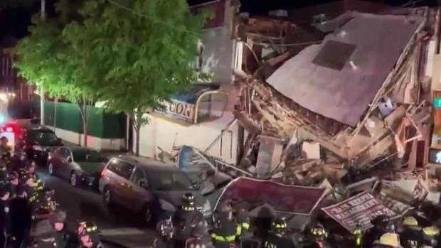 [NY] NYC Building Collapses Into Pile of Rubble After Car Hits It