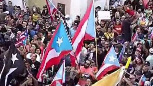 [NY] NYC Puerto Ricans Protest Ricardo Rossello Replacement
