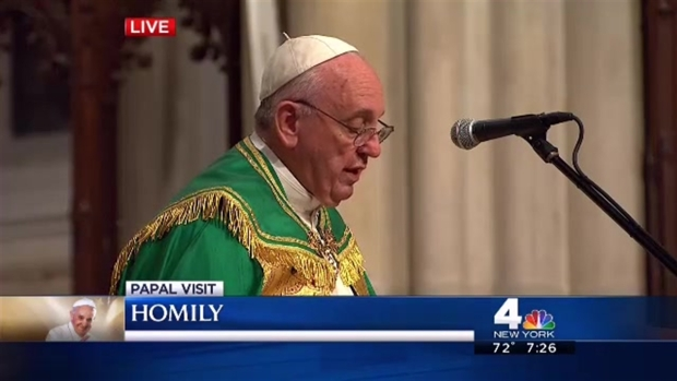 Watch: Pope Francis' Full Homily at St. Patrick's Cathedral