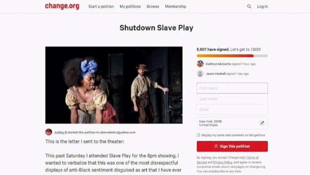[NY] Woman Petitions to Shut Down 'Slave Play' Show on Broadway