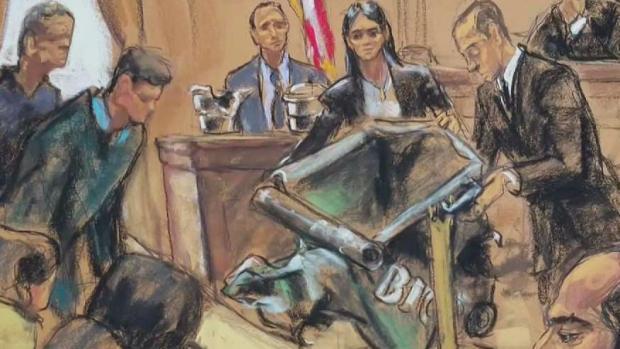 [NY] Prosecutors Show Mangled Dumpster at Chelsea Bombing Tr