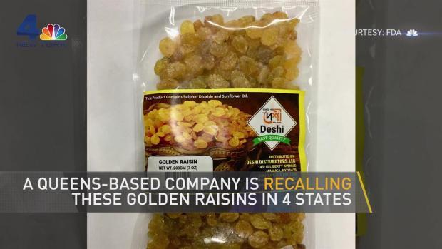 NYC Company Recalls Raisins Sold in 4 States
