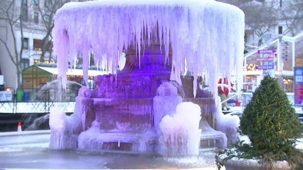 Everyone Loves to See a Frozen Bryant Park Fountain (Here!)