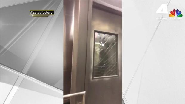 [NY] Shattered Glass, Shocked Passengers in Atlantic Terminal Aftermath