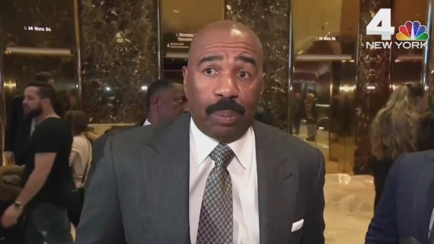 Steve Harvey Meets With Trump in New York