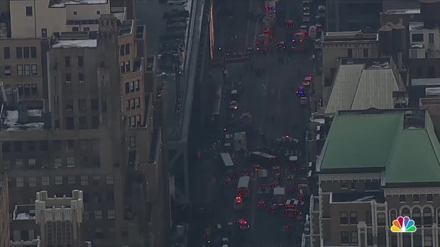 Pipe bomb detonation near Times Square in NY , few injured