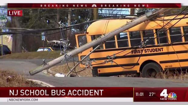 School Bus Crash Traps Kids Under Power Lines in New Jersey