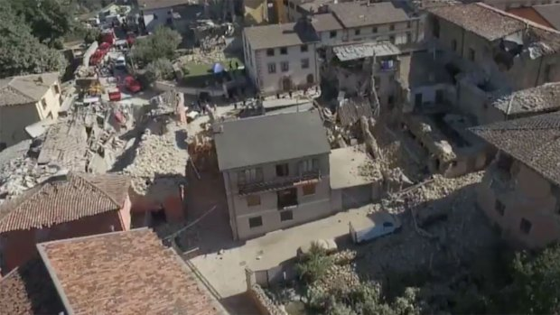 [NATL] Drone Footage Shows Earthquake Devastation in Italy