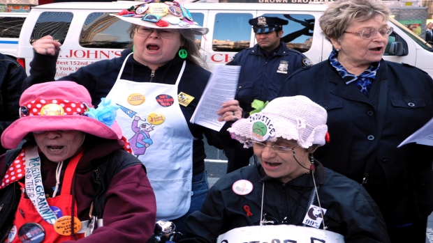 [NY] Raging Grannies Sing Original Occupy Protest Songs