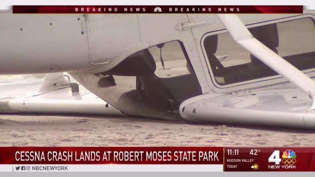 Small Plane Flips While Making Emergency Landing on Long