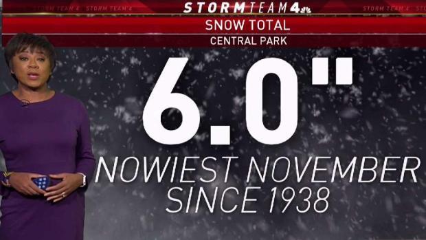 Snowiest November Since 1938