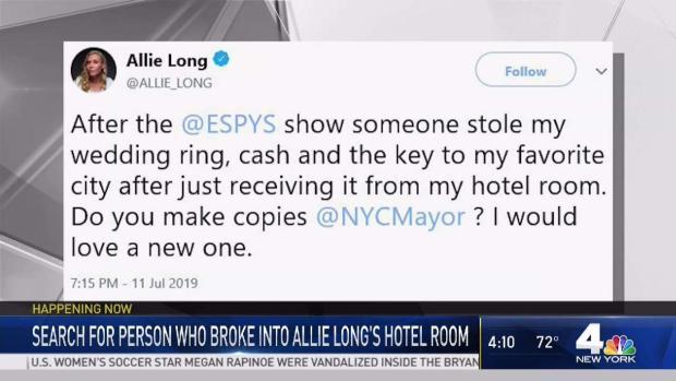 [NY] Someone Stole Soccer Star's Key to NYC From LA Hotel Room