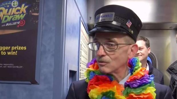 Special Sendoff for NJ Transit Conductor