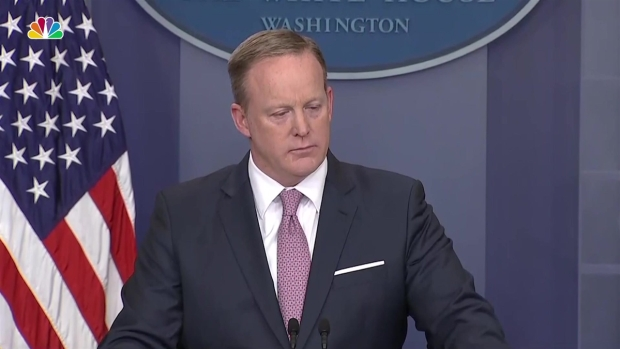 Sean Spicer Refuses to Answer Questions About Trump Tapes of Comey