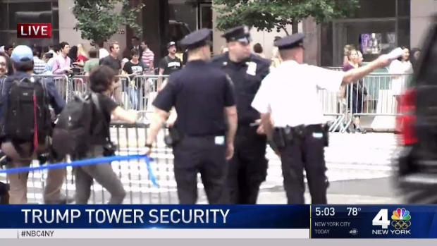 Tight Security at Trump Tower Ahead of President Visit