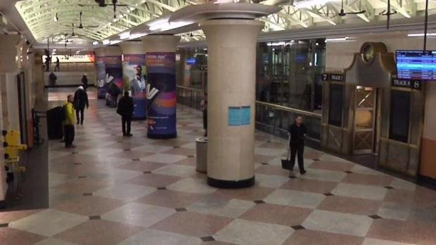 Transit Stations Empty at Rush Hour After Storm