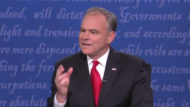 Tim Kaine Attacks Trump's Birtherism In the VP Debate: 'Outrageous Lie'
