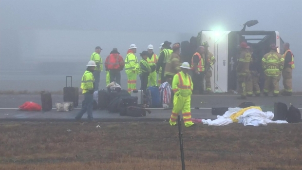 [NY] Raw Footage Shows Major Response to Charter Bus Crash