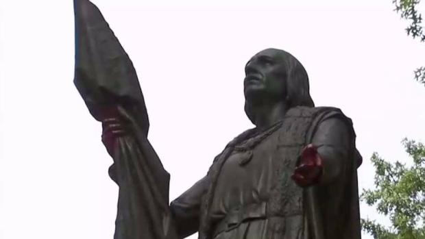 [NY] Vandals Hit Columbus Statue in Central Park