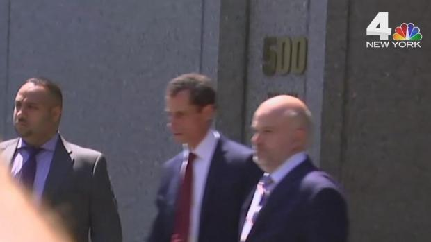 [NY] Raw Footage: Weiner Leaves Court After Sexting Guilty Plea