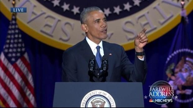 [NATL-CHI] Obama Thanks 'Brother' Biden in Farewell Address