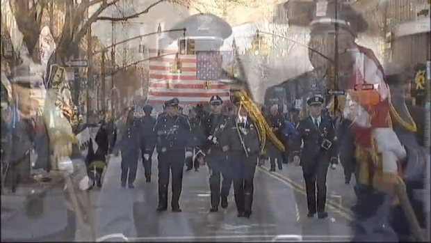 [NY] Officers Salute Fallen Hero in Brooklyn