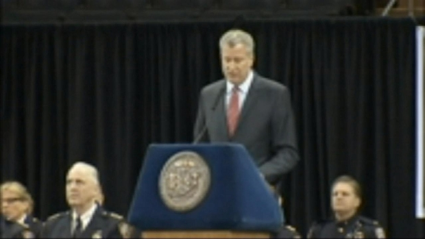 De Blasio Heckled at Police Graduation Ceremony