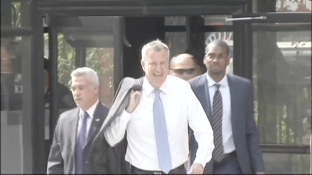 [NY] Mayor Meets With Police Union Chiefs Amid Rift