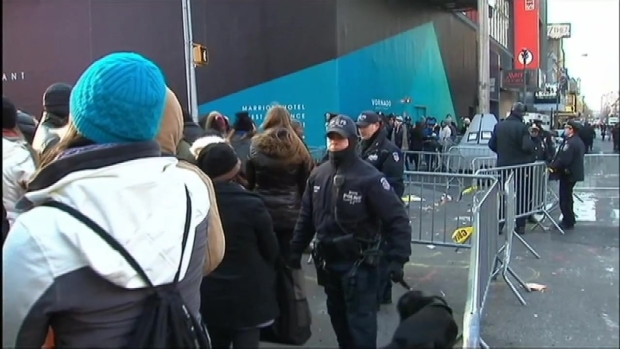 Thousands Brave the Cold to Ring in the New Year in Times Square