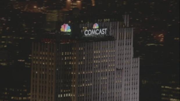 [NY] WATCH: NBC Peacock Lights Up NYC Skyline for First Time in History