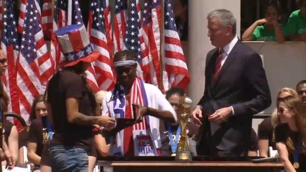 WATCH: Highlights from the U.S. Women's National Team Key Ceremony at City Hall