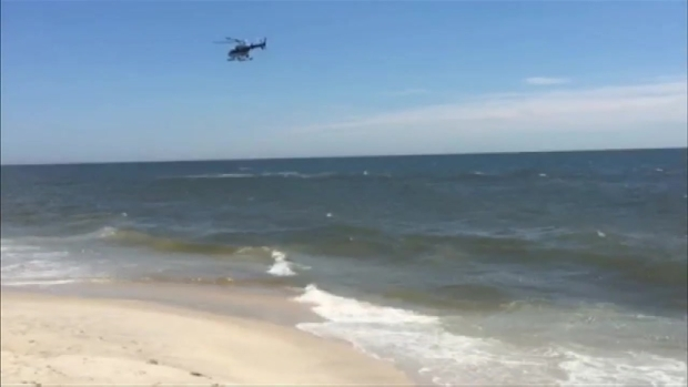 [NY] Police Choppers Scour Ocean After Shark Sighting Off Long Island Beach