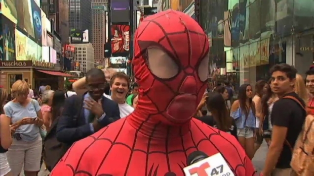 [NY] Spider-Man Speaks Out After Times Square Brawl