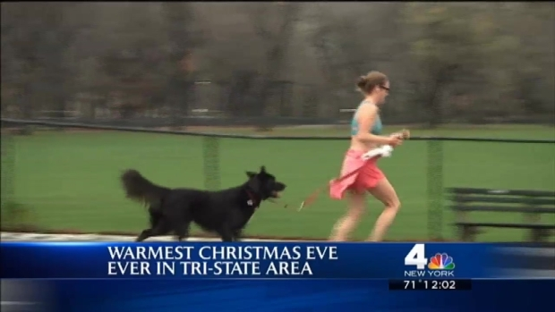 [NY] Temps Surpass 70 on Warmest Christmas Eve Ever in NYC