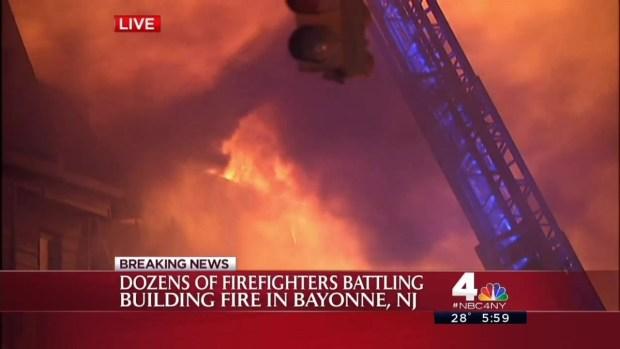 Wind, Black Ice Challenge Firefighters in NJ Inferno - NBC New York