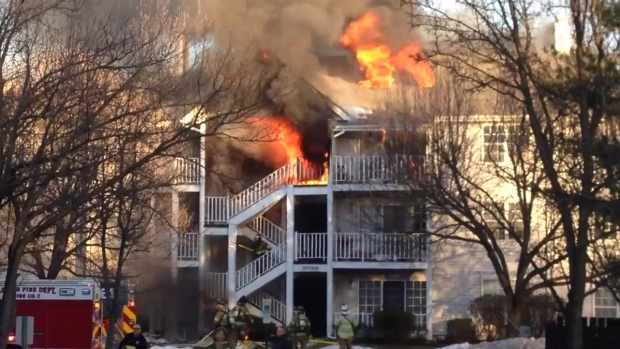 [NY] Fire Breaks Out at Mahwah Townhouse Complex