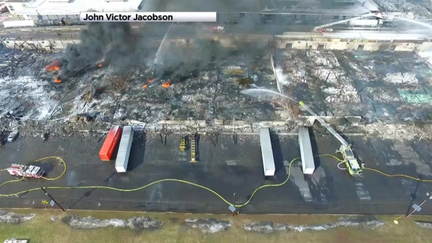 [NY] Hillsborough Warehouse Left in Smoking Ruins